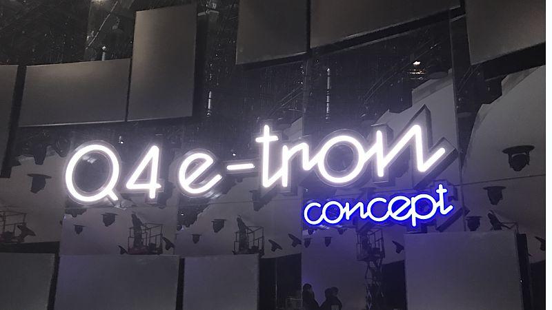 Profil-2-Reliefschrift mit LED-Neon