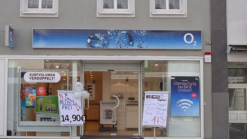 O2, bundesweite Shops